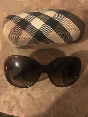 Authentic Burberry Women's Sunglasses Brown frame with case and cloth
