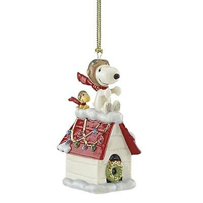 "Lenox ""snoopy The Flying Ace Ornament""  New In Box"