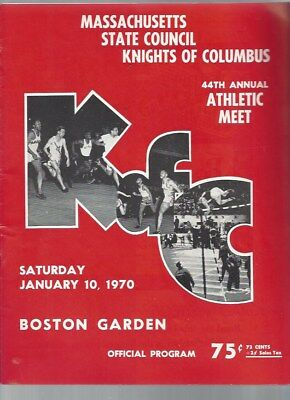 Mass State Council Knights of Columbus 44th Annual Athletic Meet Jan 1970 RARE