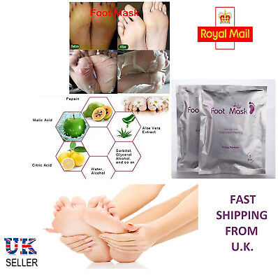 Exfoliating Peel Foot Mask Socks Baby Soft Feet Remove Hard & Dead Skin Callus