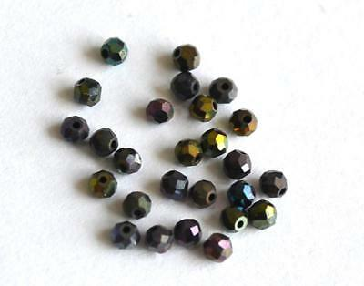 Black Spinel ( Dyed ) Beads Faceted Rondelle 2 Mm Gemstone 2 Cts - 25 Pcs @1306