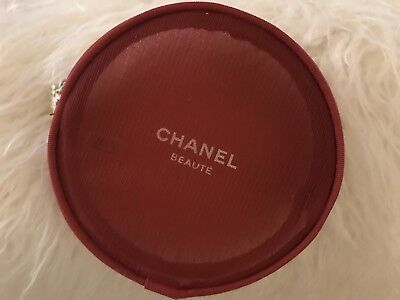 VIP gift from Chanel beauty  counter  Holiday  2016  RED round makeup bag