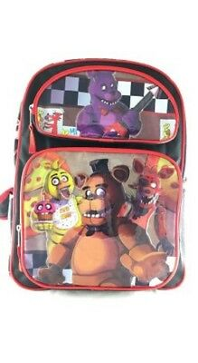 """Five Nights at Freddys Large 16"""" inches Backpack New Licensed Product with Tags"""