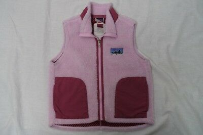 Patagonia Girls Retro Fleece Vest Sz-Xs (5-6)