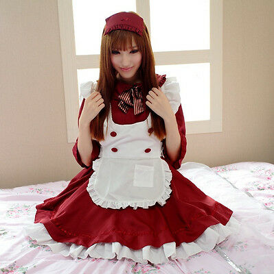 3X Adult Anime Cosplay Maid Costume Lolita French Maid Babydoll Dress Uniform