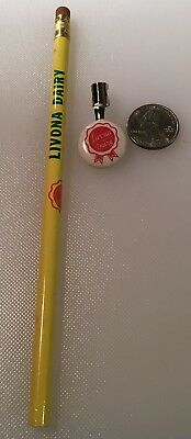 LIVONA DAIRY STRAWBERRY PLAINS TENNESSEE Pencil And metal clip advertising