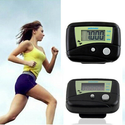 LCD Pedometer Step Walking Jogging Hiking Calorie Counter Distance Fitness