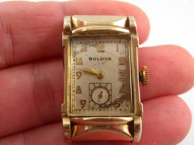 Vintage 1956 Bulova L4 10 K Gold Filled 21 Jewels Men Watch Wristwatch