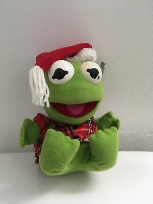 the muppets baby kermit plush frog muppets christmas 1987 7 99