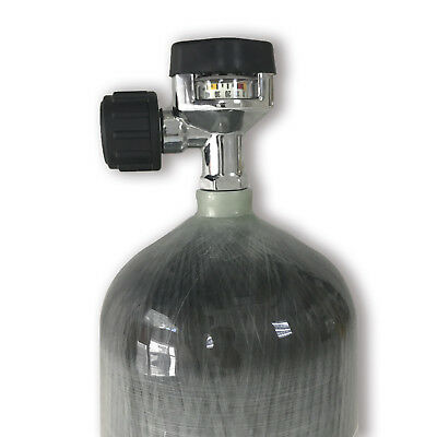 China airsoft 9L CE 4500psi gas cylinder compressed air bottle SCBA tank & valve