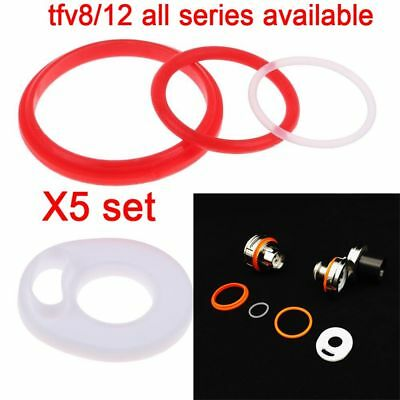 5 Set Replacement Parts Rubber O-ring Gaskets Seal Ring Kit for SMOK TFV8 TFV12