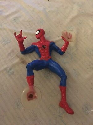 """Marvel 2004 flexible Spiderman action figurine with suction cups approx.7"""" tall"""
