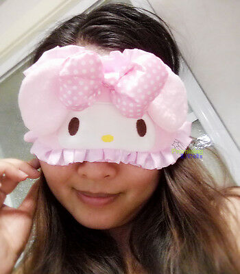 SANRIO Hello Kitty KAWAII Sleeping Mask Blindfold Travel Nap Vehicle Relaxation