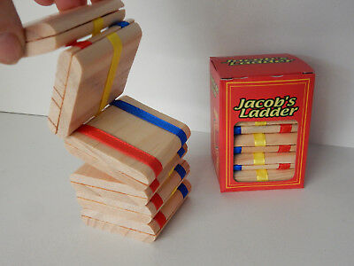 Wooden Jacobs Ladder Ancient Conjuring Trick Easy To Learn Traditonal Fun Toy