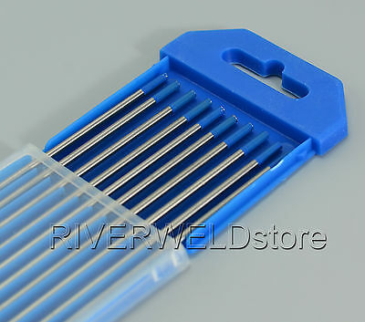 "2.0% Lanthanated WL20 Sky Blue TIG Welding Tungsten Electrode 3/32""x7"",10 pcs"