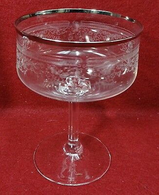 """LENOX crystal LACE POINT pattern Tall Sherbet Champagne Goblet or Glass - 5"""""""