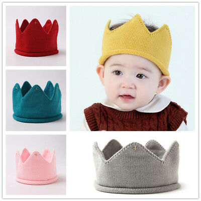Baby Infant Crown Headband Knitted Hat Headwear for Boys & Girls