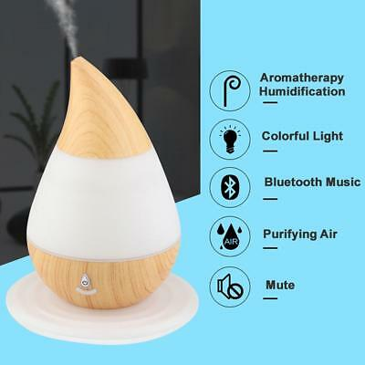 NEW NEW Water Droplets Aroma Air Humidifier Mini USB Bluetooth Aroma Diffuser H