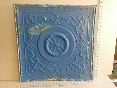 "Antique Tin Ceiling Tile Panel Aprox.  24"" x 24""  Oringal Paint"