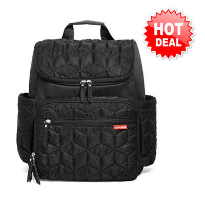 Skip Hop Forma Quilted Diaper Backpack - Black!! NEW BRAND & FREE SHIPPING