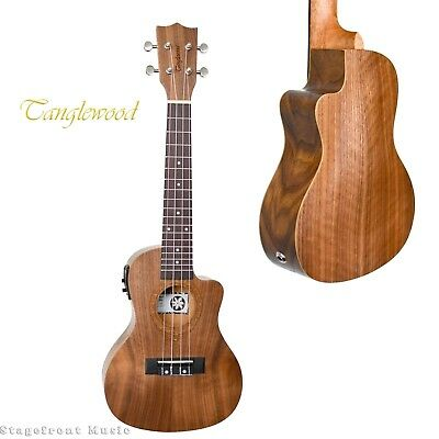 Tanglewood Twt13E Tiare Concert Ukulele With Pickup Pacific Walnut - Brand New