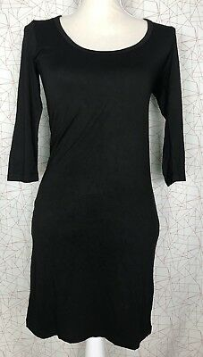 Hatch Maternity Collection Black Stretch Dress Size P (36' Inches Long) EUC