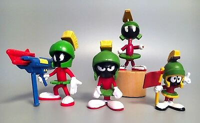 Rare MARVIN THE MARTIAN Wood Push Puppet Toy, Action Figure, PVCs 1980s-1990s
