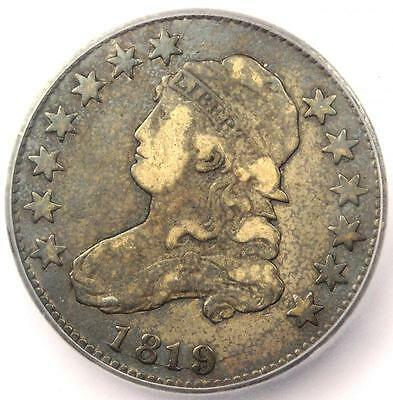 1819 B-4 Capped Bust Quarter 25C Small 9 - Certified ICG F12 - Rare B-4 Variety!