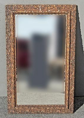 Vintage French Provincial Style Carved Gold Gilt Wall Mantle MIRROR
