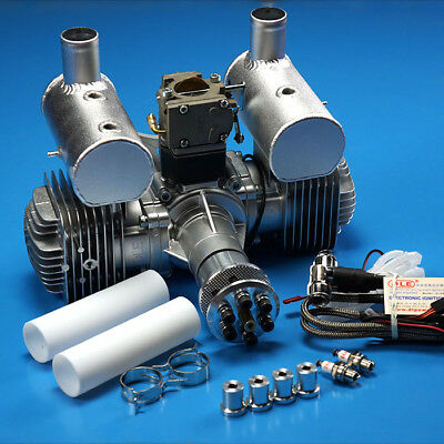 DLE 170CC 2 Stroke Gas Engine w/ Electronic Ignition & Muffler For RC Aircraft