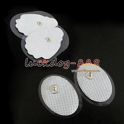 Big/Small Snap-on Electrode Pads Replacement F Electronic Digital TENS Massagers