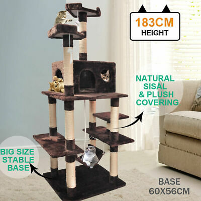 183cm Cat Scratching Post Tree Gym House Condo Furniture Scratcher Pole