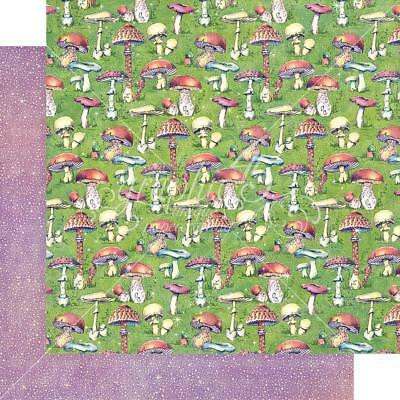 """Graphic 45 Fairie Dust - TINY TOADSTOOLS - 12x12"""" Scrapbooking Paper"""