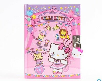 Sanrio Hello Kitty Circus KT Diary Notebook with Key Lock 288 Pages