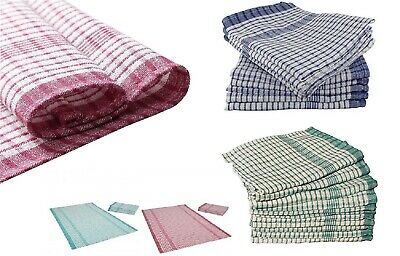 HOTEL QUALITY Herringbone Weave,Tea Towels,Soft and Absorbent -PACK OF 10, GREEN