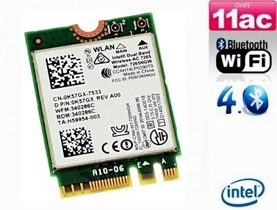 + Intel AC 7265 7265NGW Dual Band 867Mbit/s WLAN+Bluetooth 4.0 PCIe M.2 NGFF +