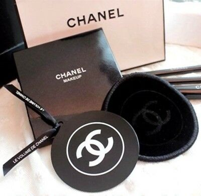 CHANEL Beauty VIP Makeup Mirror Small Pocket Palm Size 6.5cm VELVET BAG Rounded