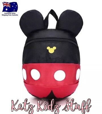 Mickey Mouse Child Safety Harness Backpack With Removable Leash Aus Seller