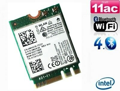 + Intel AC 3165 3165NGW  Dual Band 5Ghz 433Mbit/s WLAN+Bluetooth PCIe M.2 NGFF +