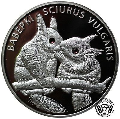 "Belarus: 20 Roubles 2009 ""Squirrels"" . PROOF."