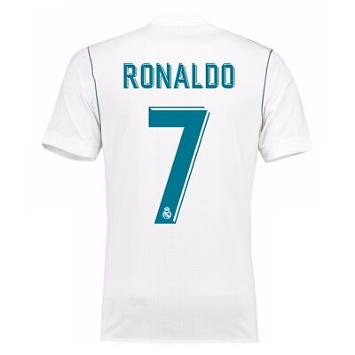Adult S Real Madrid Home Shirt 2017-18 with Ronaldo 7 RM8