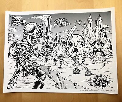 Lamour Supreme Buff Monster Art Print Signed Numbered Limited