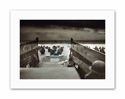 WAR MILITARY HISTORY D DAY LANDING NORMANDY WWII Military Canvas art Prints