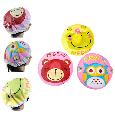 Cute Cartoon Shower Bath Cap Women Hat For Baths And Saunas Elastic Band Cap M8