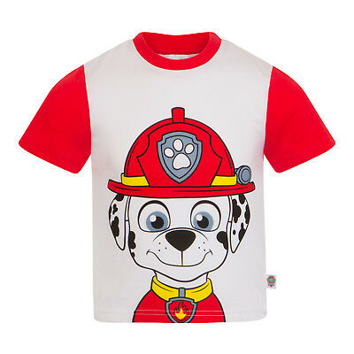 PAW Patrol Official Gift Boys Kids Character T-Shirt Rocky Chase Rubble Skye