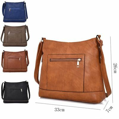 Women's Designer Style Cross Body Bag Ladies Fashionable Shoulder Shopper Bag