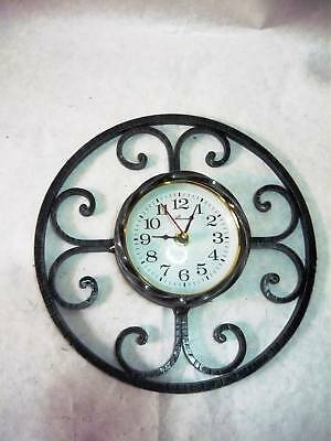 Wall clock quartz wrought iron
