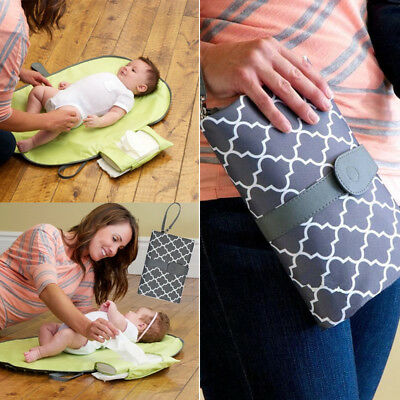 Foldable Washable Nappy Diaper Changing Mat Baby Portable Folding Pad Pockets