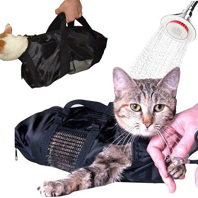 ❀Dog Cat Grooming Restraint Nail Clipping Cleaning Grooming Soft Bag Pet Supply