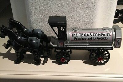 Texaco Horse & Tanker Locking Coin Bank # 8 Limited Edition w/COA